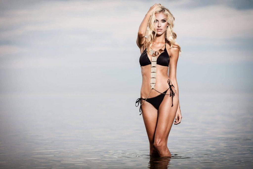 black-bikini-in-water